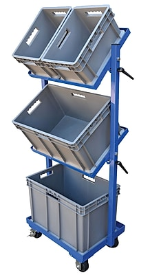 Vestil 200 lbs 1 Shelf 3 Basket Multi-Tier Utility Cart