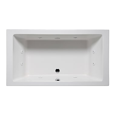Americh Vivo 66'' x 42'' Drop in Whirlpool Bathtub; Biscuit