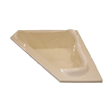 American Acrylic 72'' x 72'' Corner Bathtub; Bone