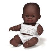"""Miniland Educational Newborn Baby Doll African Boy (8 1/4""""), (31123)"""