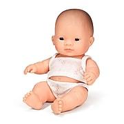 """Miniland Educational Newborn Baby Doll, Asian Boy, 8-1/4"""""""