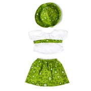 "Miniland Educational Green Dress with cap, 15 3/4"", Green (31532)"