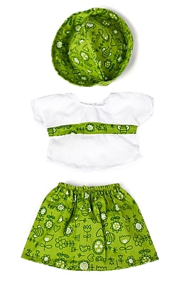Miniland Educational Green Dress with cap, 15 3/4