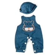 "Miniland Educational Denim Jumper with Hat 15 ""-15 3/4"""