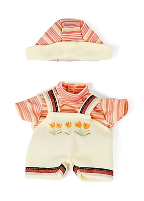Miniland Educational Yellow Stroll Suit with Tulips 8 1/4