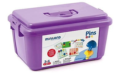Miniland Educational Peg Activity Stacking Set (144 pieces), Multicolor (31785)