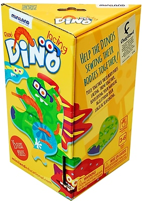 Miniland Educational Flexi Dino Lacing, Multicolor (31798)