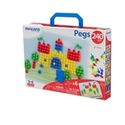 "Miniland Educational Pegs 3/8"" - 240 Pegs - 6 Worksheets / Retail Box, Multicolor (31804)"