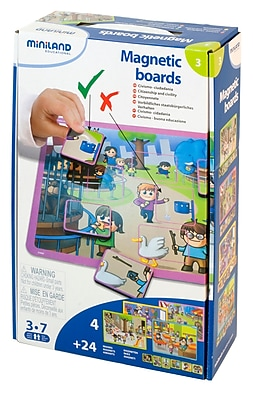 Miniland Educational Magnetic Boards Civic Behavior, Multicolor (31952)