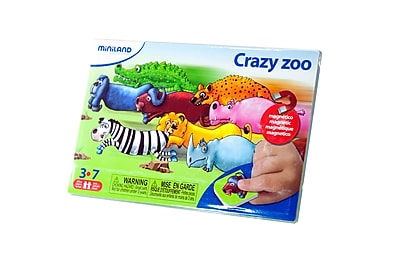 Miniland Educational Crazy Zoo, Multicolor (31964)