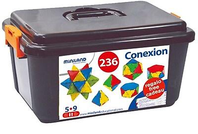 Miniland Educational Conexion (236 Pieces) / Container, Multicolor (321310