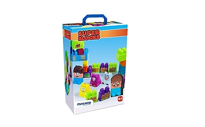 Miniland Educational Super Blocks - Farm, Multicolor (32339)