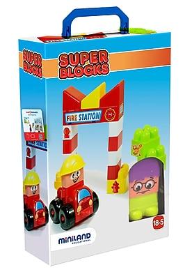 Miniland Educational Super Blocks - Fire Station, Multicolor (32352)