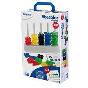 Miniland Educational Abacus with Shapes: 1 abacus + 100 shapes, Multicolor (95270)