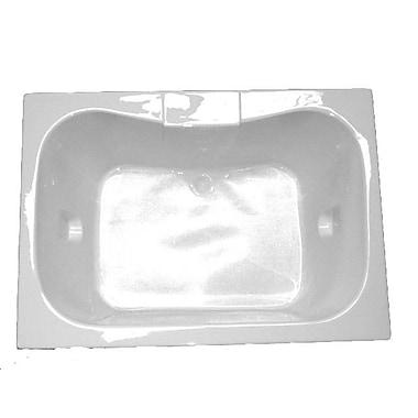 American Acrylic 60'' x 42'' Soaker Bathtub; White