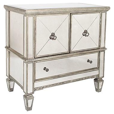 Butler Celeste 3 Drawer Console Cabinet; Silver