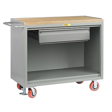 Little Giant USA Mobile 54''W Butcher Block Top Workbench