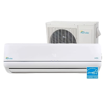 Senville Aura 24,000 BTU Energy Star Ductless Mini Split Air Conditioner w/ Remote WYF078277710196