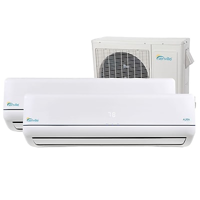 Senville Aura 12,000 BTU Energy Star Ductless Mini Split Air Conditioner w/ Remote WYF078277710198