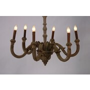 Zentique Inc. Provence 6-Light Candle-Style Chandelier