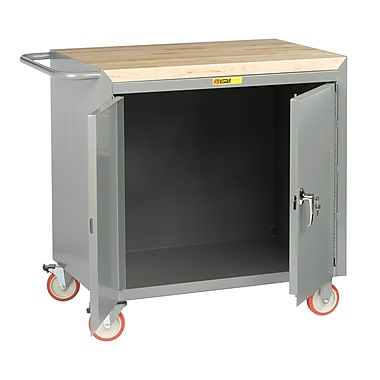 Little Giant USA Mobile 42''W Butcher Block Top Workbench