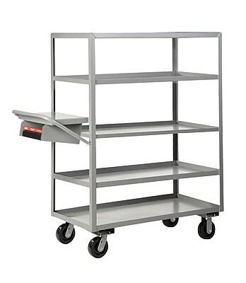 Little Giant USA Multi-Shelf Utility Cart w/ Writing Shelf and Storage Pocket