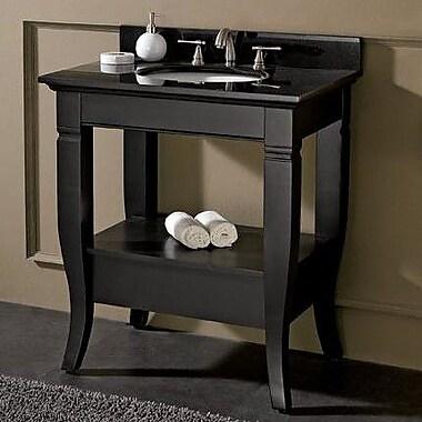 Avanity Milano 31'' Single Bathroom Vanity Set; Black Granite