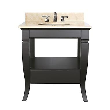 Avanity Milano 31'' Single Bathroom Vanity Set; Galala Beige