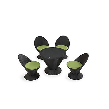 Ceets Martini w/ Cushions 5 Piece Dining Set; Green
