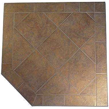ETCO Corner Africana Hearth Pad; 1.5'' H x 40'' W x 40'' D