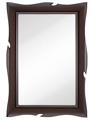 Majestic Mirror Traditional Large-scale Wall Mirror Wavy Wenge Frame