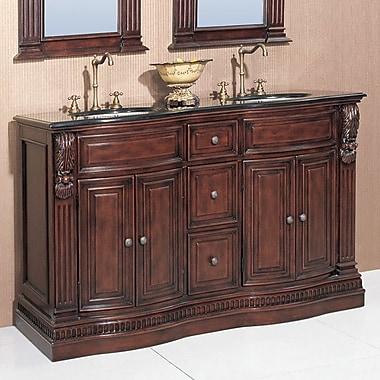 Legion Furniture Willhelm 60'' Double Chest Bathroom Vanity Set