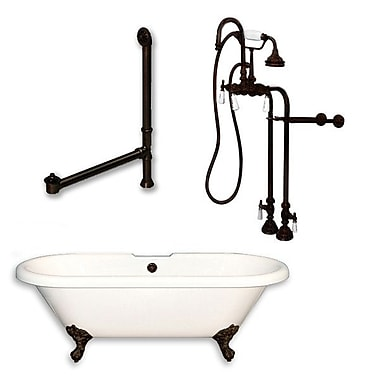 Cambridge Plumbing 70'' L x 30'' W Bathtub; Oil Rubbed Bronze