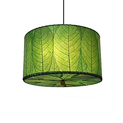 Eangee Home Design Drum Small Green Pendant -Green (497 Sg)