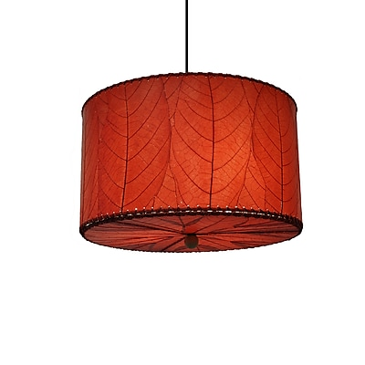 Eangee Home Design Drum Small Red Pendant -Red (497 Sr)