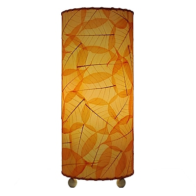Eangee Home Design Banyan Leaf Table Lamp -Orange (483-T-O)