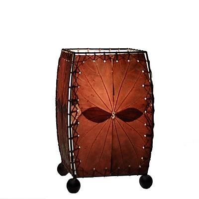 Eangee Home Design Square Alibangbang Leaf Mini Table Lamp -Burgundy (477-Bu)
