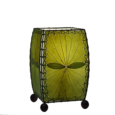 Eangee Home Design Square Alibangbang Leaf Mini Table Lamp -Green (477-G)