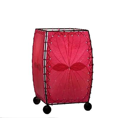 Eangee Home Design Square Alibangbang Leaf Mini Table Lamp -Pink (477-K)