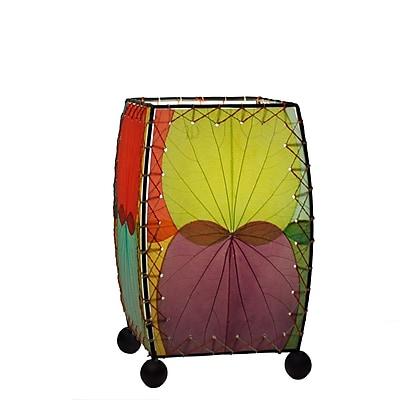 Eangee Home Design Square Alibangbang Leaf Mini Table Lamp -Multicolored (477-M)
