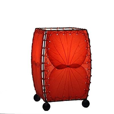 Eangee Home Design Square Alibangbang Leaf Mini Table Lamp -Red (477-R)