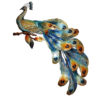 Eangee Home Design Peacock Seated Wall Decor, Multicolored (M714295)