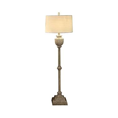 Aurora Lighting 1-Light Incandescent Floor Lamp - Bleached Wood (STL-CST044553)