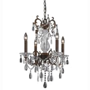Lumenno Incandescent Chandelier - Bronze Finish With Gold/Silver Wash (1005-03-04)
