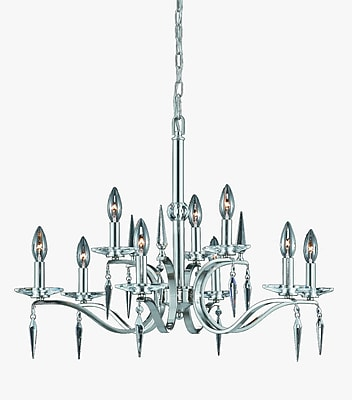 Lumenno Incandescent Chandelier - Satin Nickel Finish (2005-03-09)