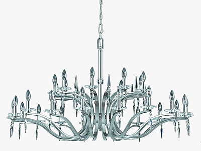 Lumenno Incandescent Chandelier - Satin Nickel Finish (2005-03-27)