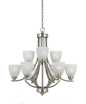Lumenno Incandescent Chandelier - Satin Nickel Finish (8001-03-09)