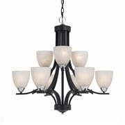Lumenno Incandescent Chandelier - Black Finish With Chrome Accents (8004-03-09)