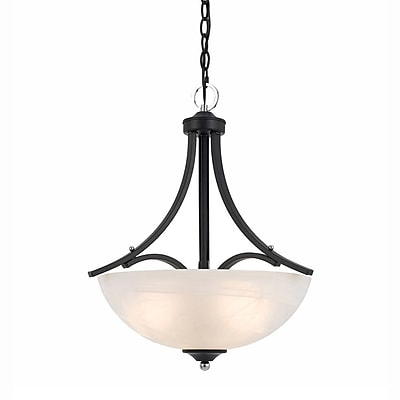 Lumenno Incandescent Pendant - Black Finish With Chrome Accents (8004-02-18)