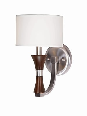 Lumenno Incandescent Wall Sconce - Redwood And Satin Nickel (1002-00-01)
